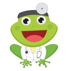 cartoon doctor frog vector image