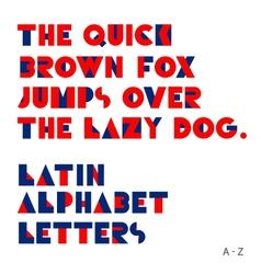 Geometric shapes alphabet letters vector