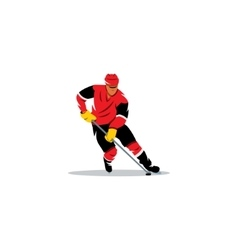 Hockey sign Player with the stick dribbling vector image vector image