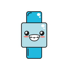kawaii cute happy smartwatch technology vector image vector image