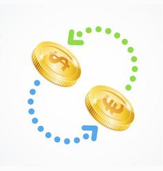money currency exchange concept vector image vector image