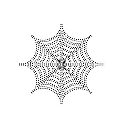 spider on web black dotted vector image
