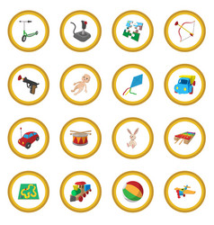 Toys cartoon icon circle vector