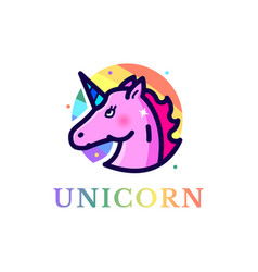 unicorn vector image