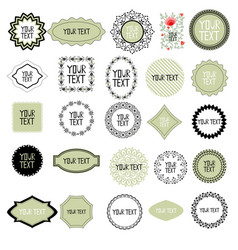 decorative labels set vector image