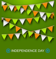 greeting background for independence day of india vector image vector image