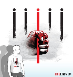 Lifelines vector image vector image