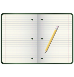 pencil on notebook vector image