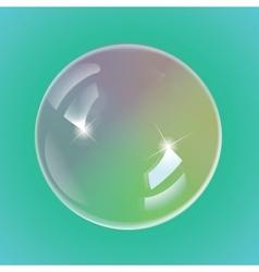 Rainbow soap bubbles vector image vector image