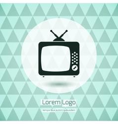 TV icon logo vector image vector image