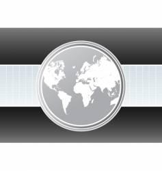 world map futuristic background vector image