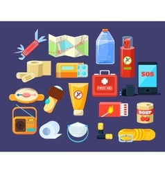 Camping Emergency Kit vector image