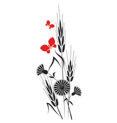flowers and ears vector image