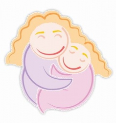 mommys girl vector image