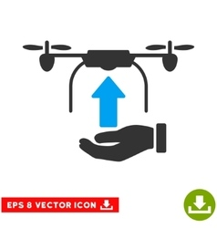 Send Drone Hand Eps Icon vector image