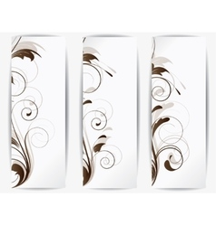 Set of abstract cards with flowers vector image