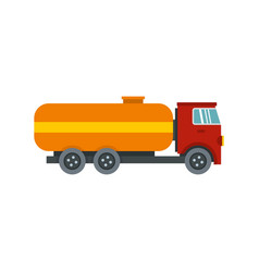 tanker truck icon flat style vector image