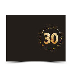 30 years anniversary card vector