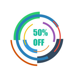 50 off abstraction technology vector image