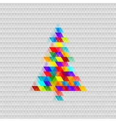 Abstract christmas tree background triangle vector image