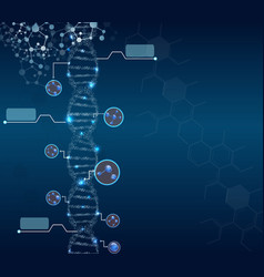 Abstract concept biochemistry with dna molecule vector