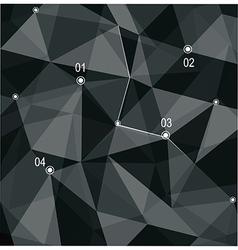 Abstract geometric 3D background vector image