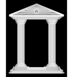 Antique roman temple frame for design vector image