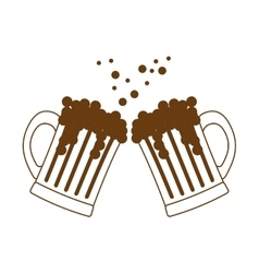 beer glasses icon image design vector image