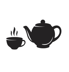 black tea icon vector image