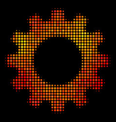 bright dotted gear icon vector image