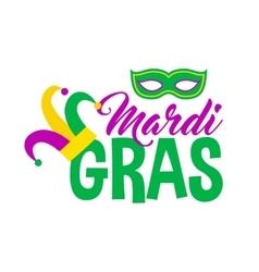 Bright mardi gras lettering vector