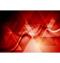Bright red hi-tech design vector image