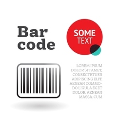 Brochure or page template with barcode vector