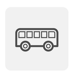 bus icon black vector image
