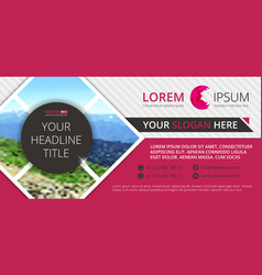 business flyer design horizontal template vector image