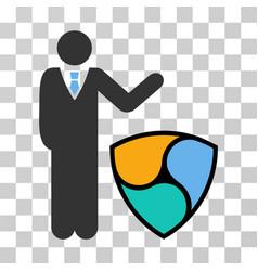 Businessman show nem icon vector