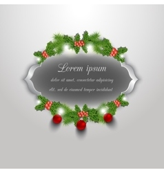Christmas greeting and invitation card vector