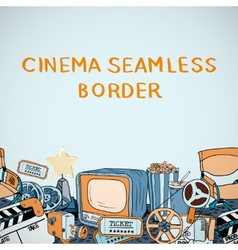 Cinema sketch seamless border vector