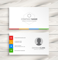 clean white business card vector image