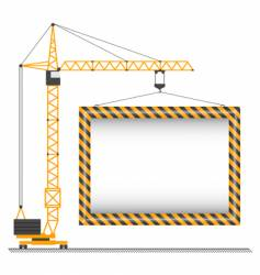 Crane sign vector