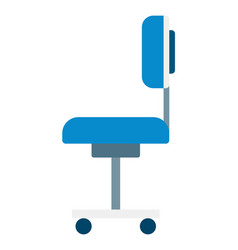 dentist wheeled chair icon flat isolated vector image
