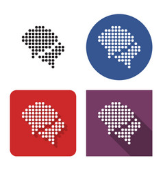 Dotted icon two blank speech bubbles dialogue vector