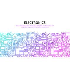 Electronics web concept vector