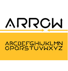 english alphabet with arrow letters flat vector image