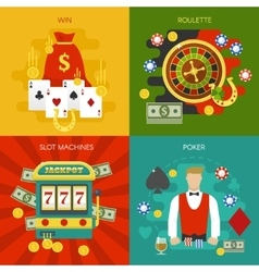 Entertainments At Casino Concept vector