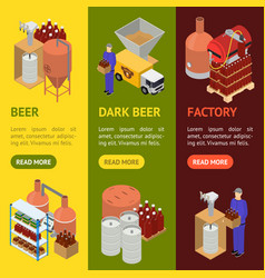 Equipment and beer production banner vecrtical set vector