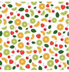 Fruit seamless background vector