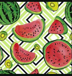 fruit watercolor pattern vector image