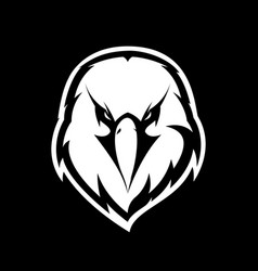 Furious eagle head athletic club logo vector