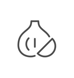 Garlic line icon vector